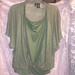 Fashionable Ladies 2 in 1 Sheer Blouse